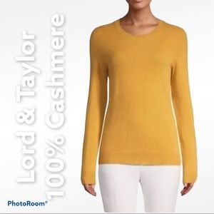 Lord & Taylor S 100% cashmere light sweater